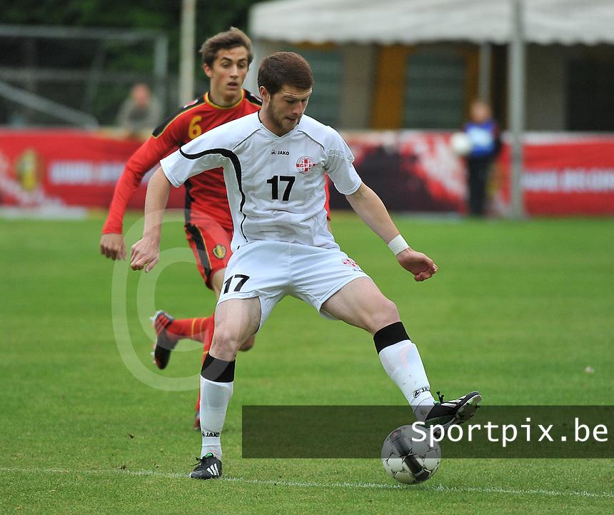 Georgia U19 - Belgium U19 : Budu Zivzivadze (17) and Julien De Sart (6)<br /> foto DAVID CATRY / Nikonpro.be