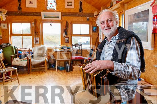 Musician Breanndán Ó Beaglaoich at his home in Baile na bPoc in Ballydavid