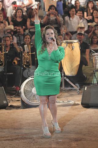 Jenni Rivera performs her second show at ExpoGan 2012 in Hermosillo, Mexico. May 19, 2012. Credit: Baldemar de los LLanos/NortePhoto/MediaPunch Inc. ***NO MEXICO*** ***NO SPAIN***