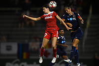 Boyds, MD - Wednesday August 30, 2017: Cali Farquharson, Abby Erceg during a regular season National Women's Soccer League (NWSL) match between the Washington Spirit and the North Carolina Courage at Maureen Hendricks Field, Maryland SoccerPlex.