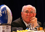 The Grand Final Breakfast, Melbourne Exhibition Centre 29-9-07, John Howard ponders the future.. (AAP Image/Grant Treeby) NO ARCHIVING, NEWSPAPERS ONLY.