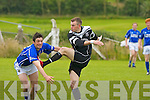 Laune Ranger's Jonathan Carey is to late as Ardfert's Frances Wallace take the point in the division 1 game at Ardfert on Sunday.   Copyright Kerry's Eye 2008