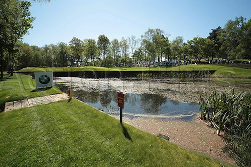 26.05.2012 Wentworth, England. The 8th at the BMW PGA Championship. Saturday, day 3 of competition.