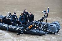 January 5 2018, PARIS FRANCE<br /> A Policewoman of the River Brigade dissapeared during a training in the Seine at<br /> Pont Saint Michel Paris. # UNE PLONGEUSE DE LA POLICE DISPARAIT DANS LA SEINE