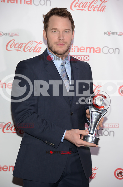 LAS VEGAS, NV - March 27: Breakthrough Performer of the Year Award winner Chris Pratt at the CinemaCon Big Screen Achievement Awards on March 27, 2014 in Las Vegas, Nevada. © Kabik/ Starlitepics