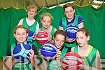 HOOPS: Learning new skills at the Team Kerry Basketball Camp in Causeway last week, front l-r: Claire Carvill, Katie Falvey, Tara Moriarty. Back l-r: Aideen Casey, Ciarda Supple, Louise Casey.