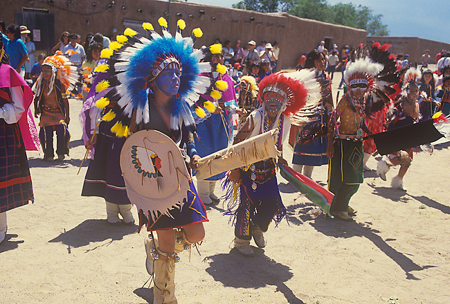 Commanche Dance, San Ildefonso Pueblo, New Mexico