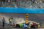 #18: Kyle Busch, Joe Gibbs Racing, Toyota Camry M&M's victory