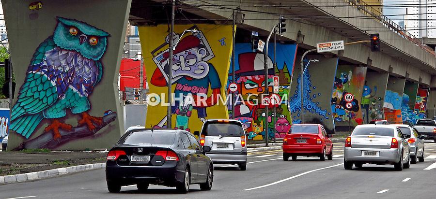 Grafite em via elevada, Santana. Sao Paulo. 2012. Foto de Juca Martins.