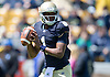 April 21, 2012:  Notre Dame Fighting Irish quarterback Everett Golson (1) sets to pass the ball in first quarter action of the Blue-Gold Spring game at Notre Dame Stadium in South Bend, Indiana.  The Defense topped the Offense by a score of 42-31.