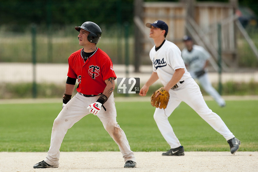 21 May 2009: Frederic Rouge of Toulouse is seen during the 2009 challenge de France, a tournament with the best French baseball teams - all eight elite league clubs - to determine a spot in the European Cup next year, at Montpellier, France.