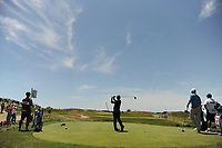 Yusaku Miyazato (JAP) watches his tee shot on 12 during Friday's round 2 of the 117th U.S. Open, at Erin Hills, Erin, Wisconsin. 6/16/2017.<br /> Picture: Golffile | Ken Murray<br /> <br /> <br /> All photo usage must carry mandatory copyright credit (&copy; Golffile | Ken Murray)