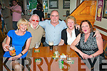 Tralee people having a enjoyable time ringing in the new year in Dowdies bar,Tralee last Monday night were,L-R Marie&Bruddy Burrows,Derry O'Shea,Helena Burrows with Martha O'Sullivan..