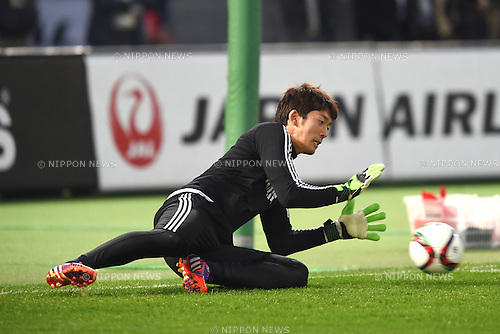 Shuichi Gonda (JPN), <br /> MARCH 30, 2015 - Football / Soccer : <br /> Japan training session <br /> at Tokyo Stadium in Tokyo, Japan. <br /> (Photo by AFLO SPORT)