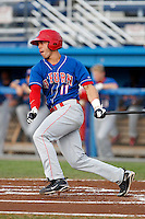 Auburn Doubledays outfielder Angelberth Montilla #11 during a game against the Batavia Muckdogs at Dwyer Stadium on August 27, 2011 in Batavia, New York.  Batavia defeated Auburn 7-5.  (Mike Janes/Four Seam Images)