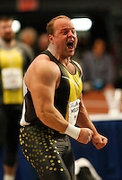 Adam Nelson won the Visa Men Shot Put with a toss of 22.07m at the 101st. MILLROSE Games on Friday, February 1st. 2008. Photo by Errol Anderson,The Sporting Image..