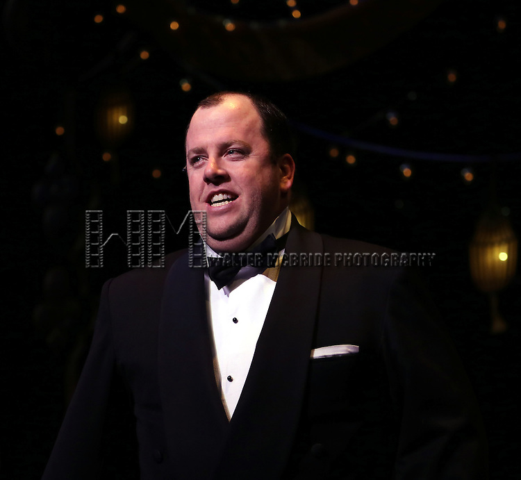 Chris Sullivan during the Curtain Call for 'Nice Work If You Can Get It'  as the company welcomes Jessie Mueller,  John Treacy Eagan & Conrad John Schuck to the cast at the Imperial Theatre in New York City on 3/29/2013