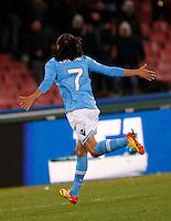 NAPOLI 25/01/2012 - COPPA ITALIA  2011/2012  QUARTI. INCONTRO NAPOLI - INTER. NELLA FOTO  CAVANI.FOTO CIRO DE LUCA