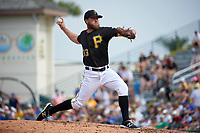 Pittsburgh Pirates pitcher Guido Knudson (63) delivers a pitch during a Spring Training game against the Toronto Blue Jays  on March 3, 2016 at McKechnie Field in Bradenton, Florida.  Toronto defeated Pittsburgh 10-8.  (Mike Janes/Four Seam Images)