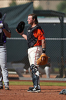 San Francisco Giants Ty Ross (8) during an instructional league game against the Colorado Rockies on October 7, 2015 at the Giants Baseball Complex in Scottsdale, Arizona.  (Mike Janes/Four Seam Images)