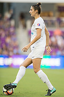 Orlando, FL - Saturday July 15, 2017: Yael Averbuch during a regular season National Women's Soccer League (NWSL) match between the Orlando Pride and FC Kansas City at Orlando City Stadium.
