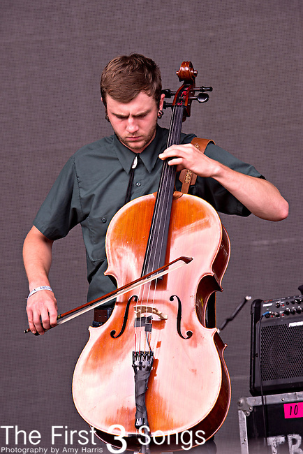 Trampled by Turtles performs during the Forecastle Music Festival at Waterfront Park in Louisville, Kentucky.