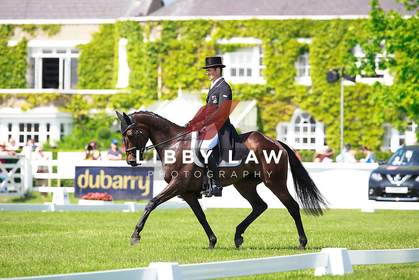 NZL-Jonathan Paget (ANGUS BLUE) INTERIM-23RD: GEORGE MERNAGH MEMORIAL CIC3* DRESSAGE: 2016 IRL-Tattersalls International Horse Trial (Friday 3 June) CREDIT: Libby Law COPYRIGHT: LIBBY LAW PHOTOGRAPHY