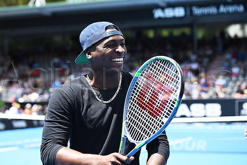 12.01.2017. ASB Tennis Centre, Auckland, New Zealand. ASB Classic Tennis, Day 13. Yankees shortstop Didi Gregorius makes a visit to the ASB Classic.
