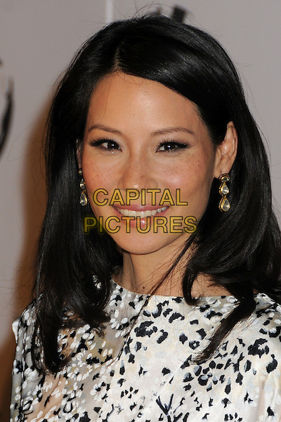LUCY LIU .Attending The Nakheel Introduction of The Trump International Hotel & Tower Dubai held at The Tar Estate in Bel Air, California on August 23rd 2008.                                                                     .portrait headshot white and black print.CAP/ADM/BP.©Byron Purvis/Admedia/Capital PIctures