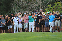 Hiradech Aphibarnrat (THA) on the 18th fairway during Round 4 of the DP World Tour Championship 2017, at Jumeirah Golf Estates, Dubai, United Arab Emirates. 19/11/2017<br /> Picture: Golffile | Thos Caffrey<br /> <br /> <br /> All photo usage must carry mandatory copyright credit     (© Golffile | Thos Caffrey)