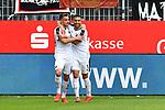 16.03.2019, BWT-Stadion am Hardtwald, Sandhausen, GER, 2. FBL, SV Sandhausen vs FC St. Pauli, <br /> <br /> DFL REGULATIONS PROHIBIT ANY USE OF PHOTOGRAPHS AS IMAGE SEQUENCES AND/OR QUASI-VIDEO.<br /> <br /> im Bild: Philipp F&ouml;rster / Foerster / Forster (SV Sandhausen #28) jubelt ueber sein Tor zum 2:0 mit Andrew Wooten (7, SV Sandhausen)<br /> <br /> Foto &copy; nordphoto / Fabisch