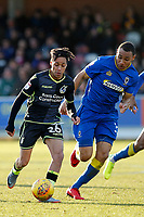 Kyle Bennett of Bristol Rovers during the Sky Bet League 1 match between AFC Wimbledon and Bristol Rovers at the Cherry Red Records Stadium, Kingston, England on 17 February 2018. Photo by Carlton Myrie.