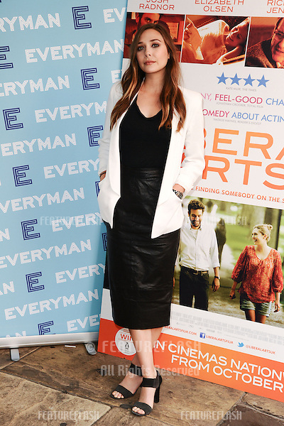 "Elizabeth Olsen arriving for a screening of ""Liberal Arts"" at the Everyman Cinema, Hampstead, London. 16/09/2012 Picture by: Steve Vas / Featureflash"
