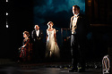 London, UK. 04.11.2016. AN INSPECTOR CALLS, by J B Priestley, opens at the Playhouse Theatre.  It is the 70th anniversary of the first UK staging of the play and the 25th anniversary of its first appearance at The National Theatre, directed by Stephen Daldry. Lighting design is again by Rick Fisher with set and costume design by Ian MacNeil. Picture shows: Barbara Marten (Mrs Birling), Clive Francis (Mr Birling), Carmela Corbett (Sheila Birling), Matthew Douglas (Gerald Croft). Photograph © Jane Hobson.