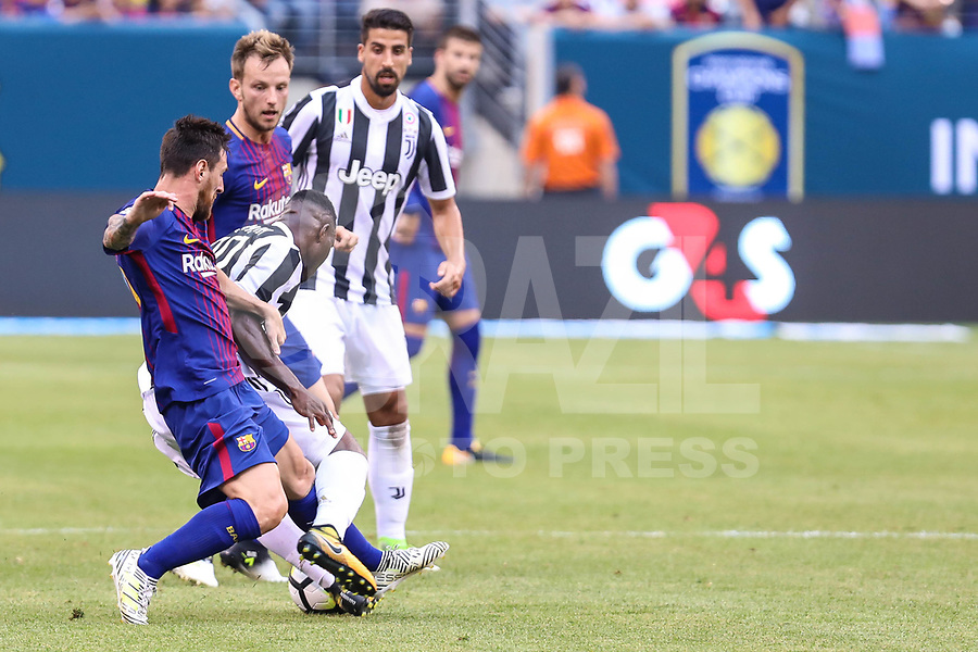 EAST RUTHERFORD, USA, 22.07.2017 - JUVENTUS-BARCELONA - Messi do Barcelona durante partida contra Juventus valido pela  International Champions Cup 2017 no MetLife Stadium na cidade de East Rutherford, New Jersey. (Foto: Vanessa Carvalho/Brazil Photo Press)