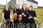 The St Sennans Music Group competing at the Scór na bPáistí county Finals on Sunday were l-r; Sinead Behan, Aoife Murphy, Aoibhe Linnane & Aideen Quinlan.