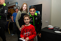 Pictured: Yan Dhanda of Swansea City during the Swansea City Christmas part at the Liberty Stadium in Swansea, Wales, UK. Thursday 05 December 2019