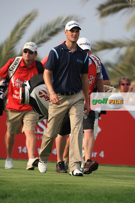 Martin Kaymer after teeing off on the 14th on day 3 of the Abu Dhabi HSBC Golf Championship 2011, at the Abu Dhabi golf club, UAE. 22/1/11..Picture Fran Caffrey/www.golffile.ie.
