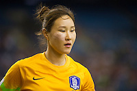 MONTREAL, Canada - Sunday June 21, 2015: France defeats Korea Republic 4-0 in the round of 16 in the FIFA Women's World Cup Canada 2015 at Olympic Stadium in Montreal, Quebec Canada.