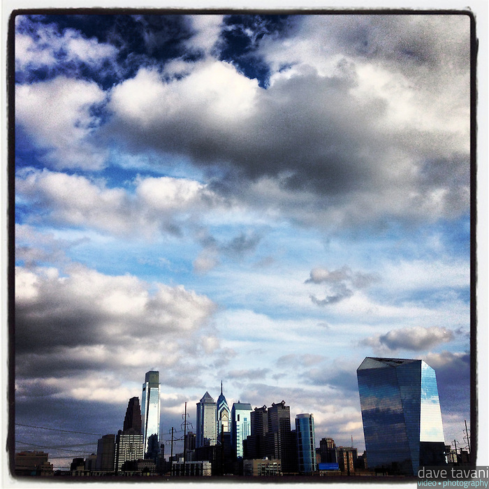 The Philadelphia skyline basks in the late afternoon light as seen from Drexel Park in Powelton Village, February 25, 2013.