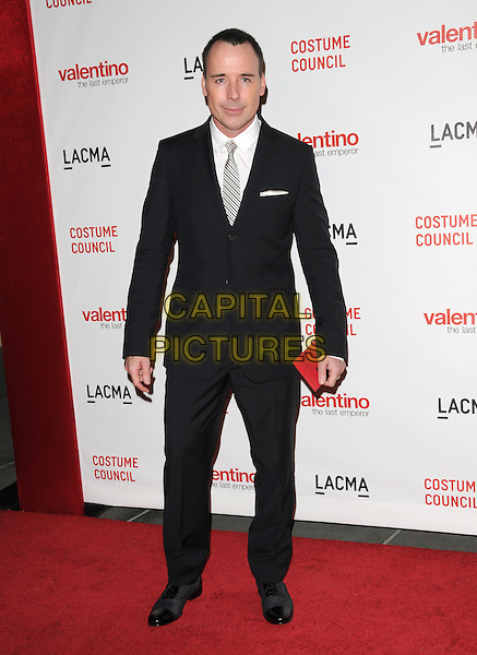 "DAVID FURNISH.The West Coast Premiere of ""Valentino: The Last Emperor"" held at LACMA in Los Angeles, California, USA..April 1st, 2009.full length black suit .CAP/DVS.©Debbie VanStory/Capital Pictures."