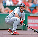 5 August 2007: St. Louis Cardinals infielder Adam Kennedy awaits his at-bat in the on-deck circle during a game against the Washington Nationals at RFK Stadium in Washington, DC. The Nationals defeated the Cardinals 6-3 to sweep their 3-game series...Mandatory Photo Credit: Ed Wolfstein Photo