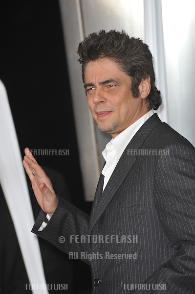 "Benicio Del Toro at the US premiere of his new movie ""Wolfman"" at the Arclight Theatre, Hollywood..February 9, 2010  Los Angeles, CA.Picture: Paul Smith / Featureflash"