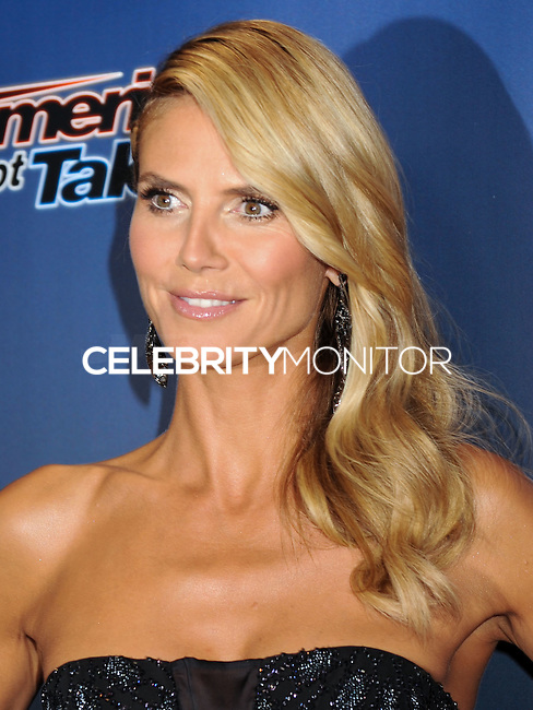 NEW YORK CITY, NY, USA - AUGUST 06: Heidi Klum arrives at the 'America's Got Talent' Season 9 Post Show Red Carpet Event held at Radio City Music Hall on August 6, 2014 in New York City, New York, United States. (Photo by Celebrity Monitor)
