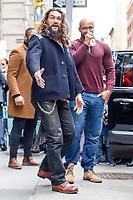 NOVA YORK, EUA, 03.12.2018 - CELEBRIDADES-EUA - O ator Jason Momoa  é visto no bairro do Soho na Ilha de Manhattan na cidade de Nova York nos Estados Unidos nesta segunda-feira, 03. (Foto: Vanessa Carvalho/Brazil Photo Press)
