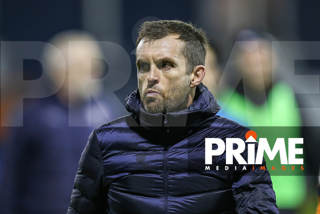 Nathan Jones (Manager) of Luton Town during the Sky Bet League 1 match between Luton Town and Bradford City at Kenilworth Road, Luton, England on 27 November 2018. Photo by David Horn.