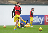 Fleetwood Town's Ched Evans during the pre-match warm-up <br /> <br /> Photographer Kevin Barnes/CameraSport<br /> <br /> The EFL Sky Bet League One - Plymouth Argyle v Fleetwood Town - Saturday 24th November 2018 - Home Park - Plymouth<br /> <br /> World Copyright © 2018 CameraSport. All rights reserved. 43 Linden Ave. Countesthorpe. Leicester. England. LE8 5PG - Tel: +44 (0) 116 277 4147 - admin@camerasport.com - www.camerasport.com