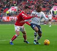 Bristol City's Liam Walsh (left) battles with Preston North End's Daniel Johnson (right) <br /> <br /> Photographer David Horton/CameraSport<br /> <br /> The EFL Sky Bet Championship - Bristol City v Preston North End - Saturday 10th November 2018 - Ashton Gate Stadium - Bristol<br /> <br /> World Copyright &copy; 2018 CameraSport. All rights reserved. 43 Linden Ave. Countesthorpe. Leicester. England. LE8 5PG - Tel: +44 (0) 116 277 4147 - admin@camerasport.com - www.camerasport.com