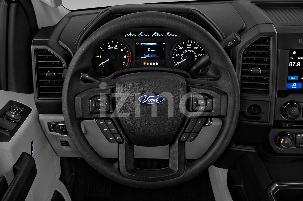 Car pictures of steering wheel view of a 2019 Ford F-150 XL-SuperCrew 2 Door Pick-up Steering Wheel