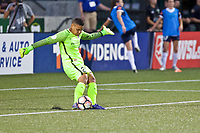 Portland, OR - Saturday July 22, 2017: Adrianna Franch during a regular season National Women's Soccer League (NWSL) match between the Portland Thorns FC and the Washington Spirit at Providence Park.